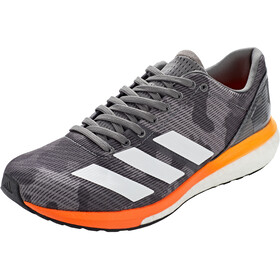 adidas Adizero Boston 8 Low-Cut Shoes Men grey four/footwear white/flash orange